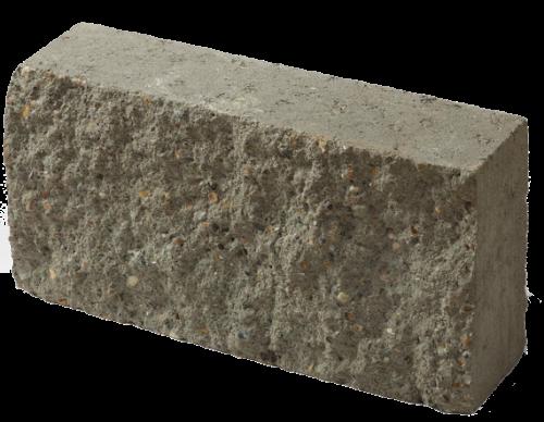 """Блок стеновой """"Перегородочный полнотелый под рваный камень"""""""