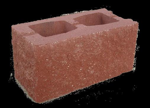 Блок стеновой угловой 2-х пустотный под рваный камень