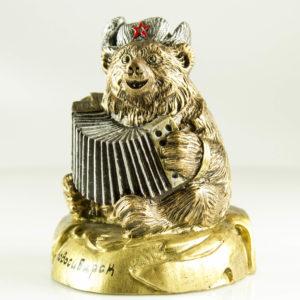 """Купить сувенир """"Медведь с гармошкой"""" большой"""