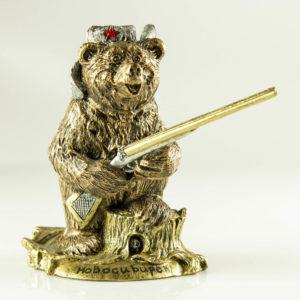 """Купить сувенир """"Медведь охотник"""""""