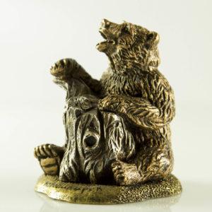"""Купить сувенир """"Медведь с пнём"""""""