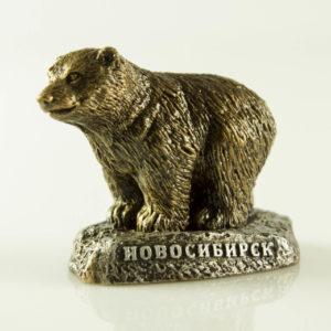 """Купить сувенир """"Медведь на подставке с надписью Новосибирск"""""""
