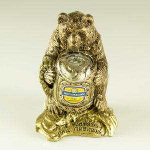 """Купить сувенир """"Медведь с пивом Жигулёвское"""""""